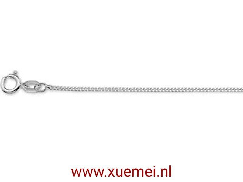 Zilveren ketting gourmet 1,0 mm