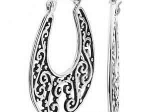 Zilveren creolen filigrain