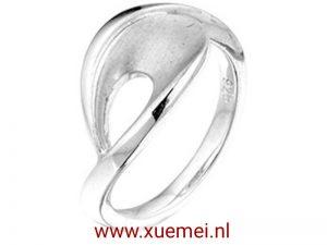 """Zilveren ring """"pauwenveer"""""""