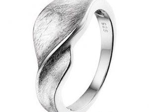 """Zilveren ring """"draai"""""""