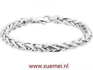 Zilveren armband vossestaart 6 mm 19 cm