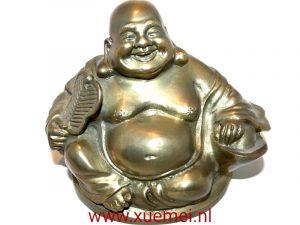 Bronzen lachende Boeddha - Chinese dikke monnik