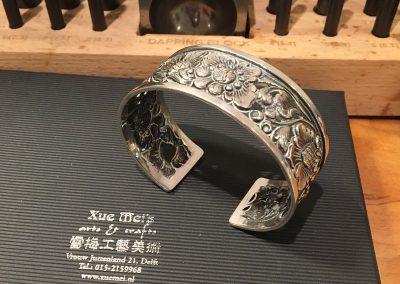 Antieke zilveren armband herstellen / aanpassen