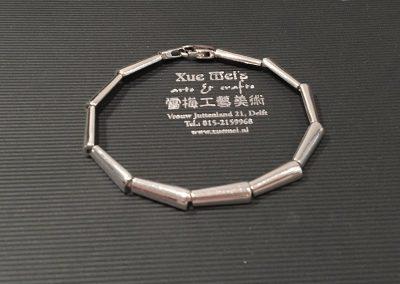 Zilveren armband schanieren maken