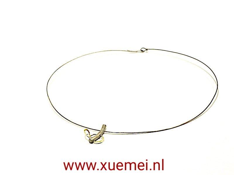 """Gouden/Titanium collier """"Always"""""""