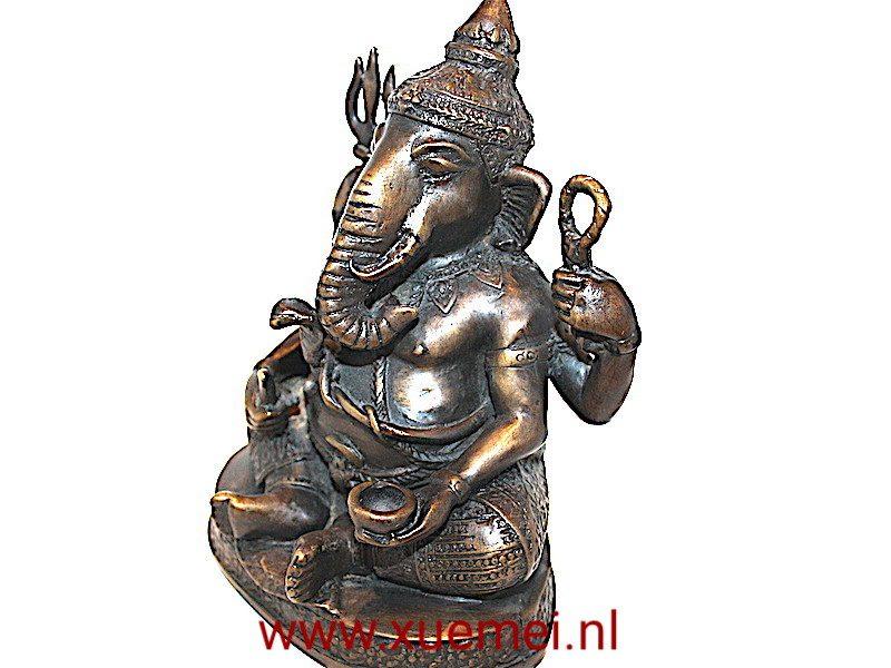 Bronzen Ganesha met fijne details