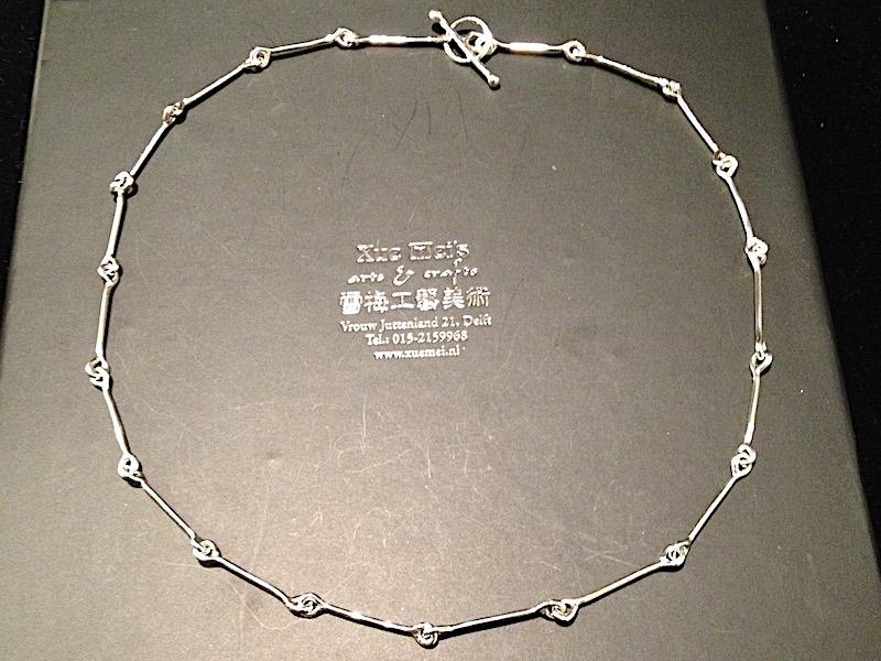 """Opdracht zilveren collier """"The one got away"""""""