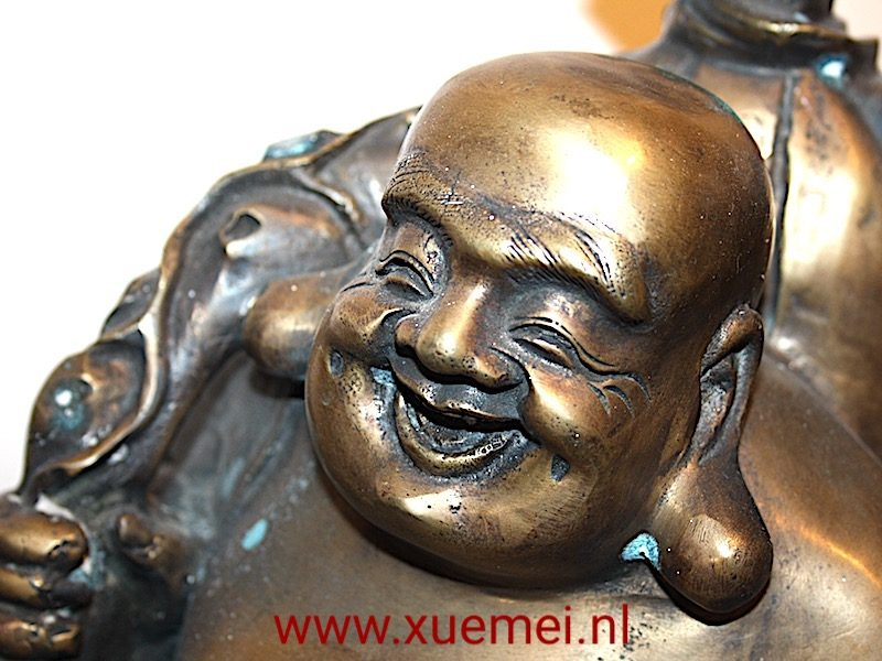 Bronzen Happy Boeddha (solid)