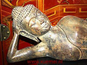Bronzen relax Boeddha (groot)