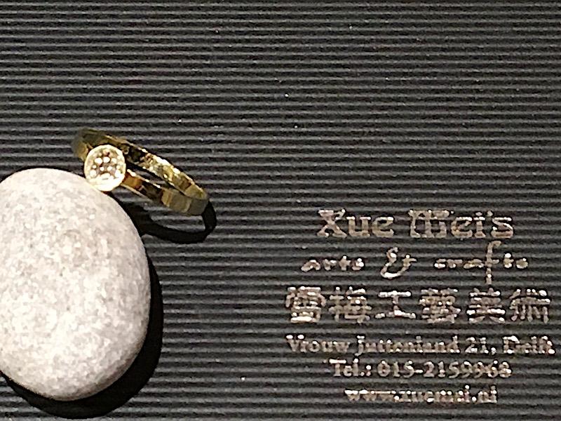 Opdracht gouden damesring gemaakt van oude gouden zegelring