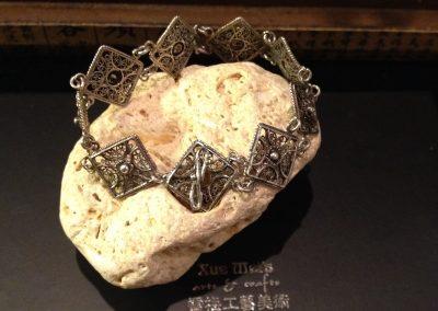 Antieke zilveren armband totaal herstellen
