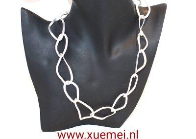 """Zilveren collier """"good life"""""""