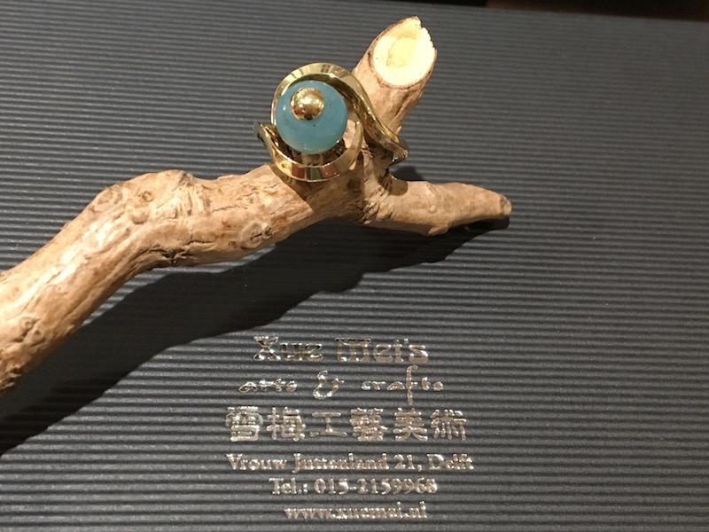 Familie gouden ring compleet repareren