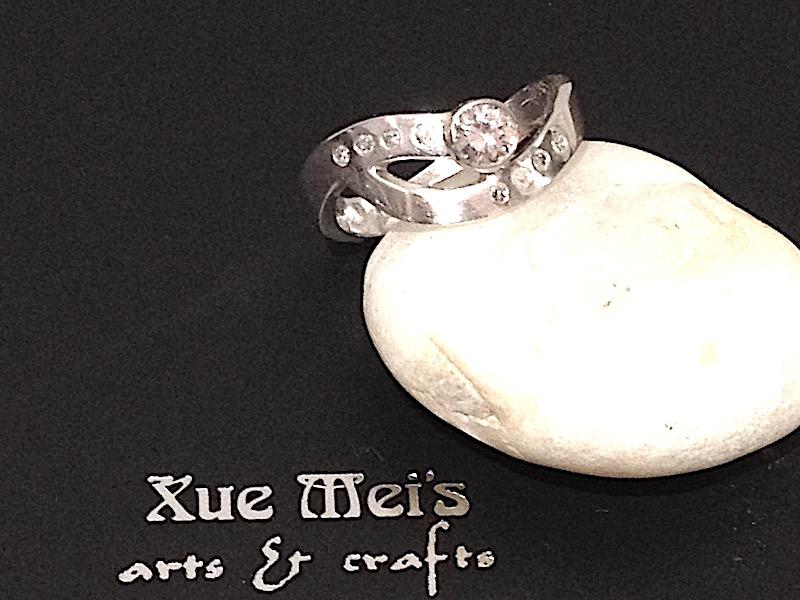 Opdracht 18k witgouden diamanten ring gemaakt van oude ring
