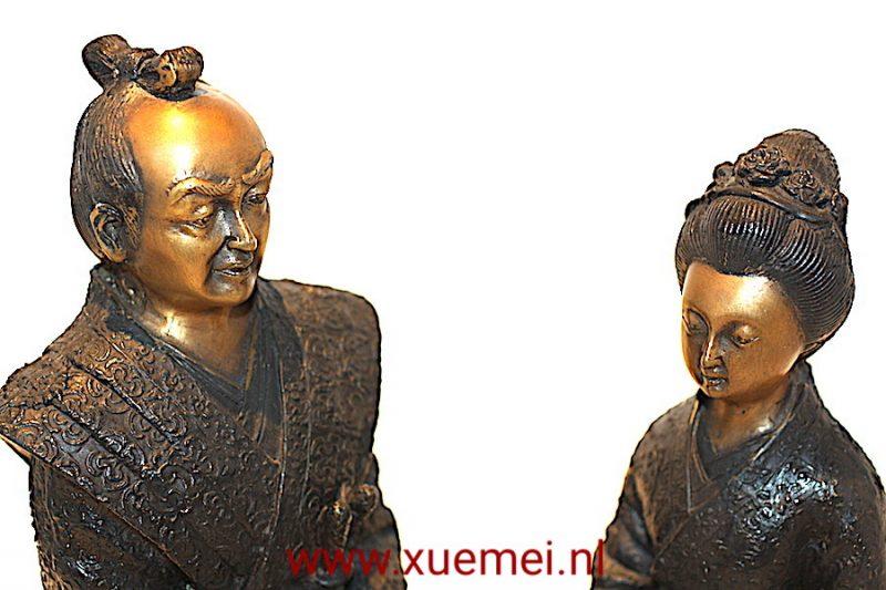 Bronzen Samurai paar
