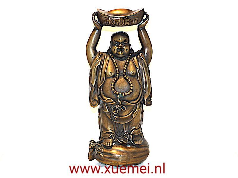 """Bronzen """"Happy Boeddha"""""""