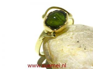 gouden ring groen toermalijn