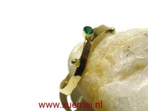 """Gouden ring met smaragd """"takje & smaragd"""""""