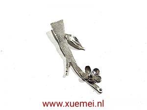 Zilveren hanger veer