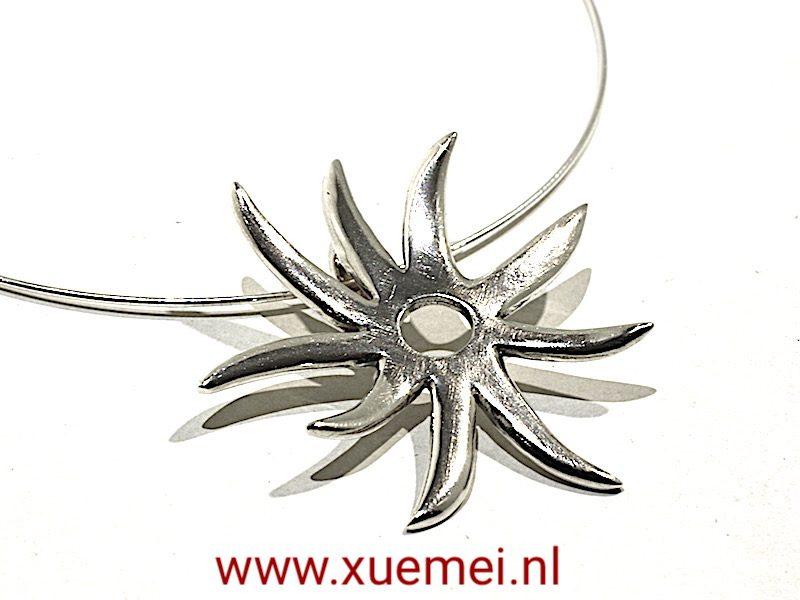 "Zilveren hanger ""sunshine"""