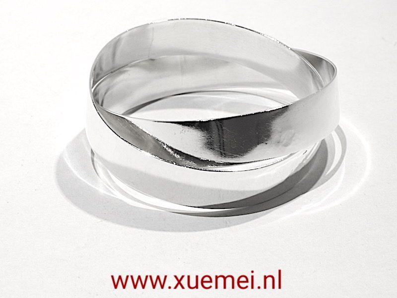 "Zilveren armband ""You & me"""