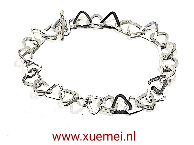 """Zilveren schakel armband """"lotus"""""""