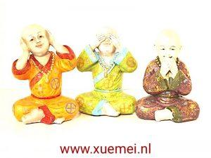 Horen-zien-zwijgen kleuren monniken