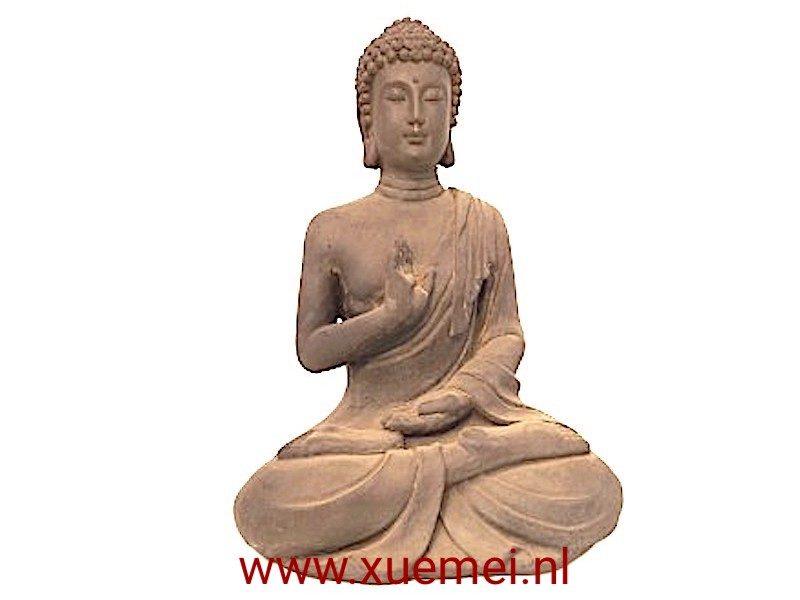 Aardewerk Boeddha abhayamudra