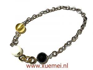 exclusieve zilveren collier - verguld - edelstenen - juwelier Delft