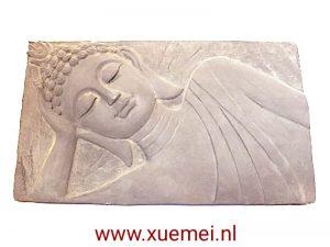 Aardewerk Boeddha tableau / paneel