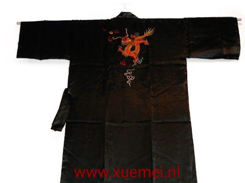 Chinese kimono draak met vuur