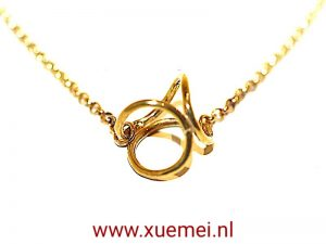 "Messing vergulde collier ""oneindig"""