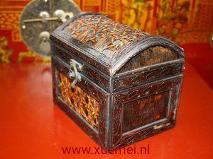 Houten bamboe doos