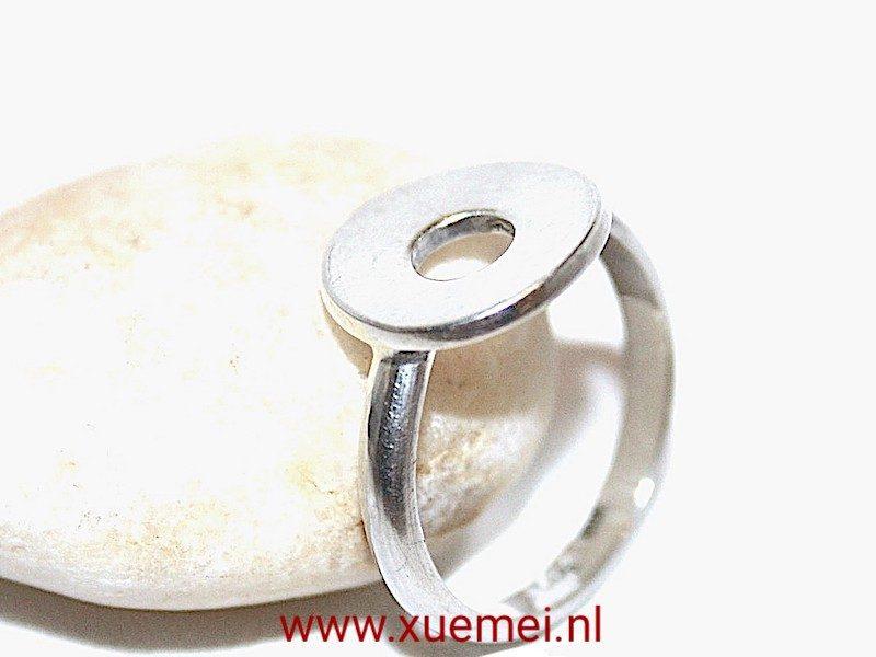 """Zilveren ring """"Geluksmuntje"""""""