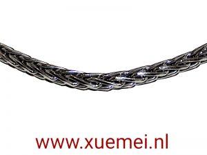 Zilveren collier / ketting vossestaart 3,0 mm