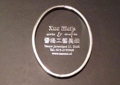 Opdracht zilveren slavenarmband minimalist