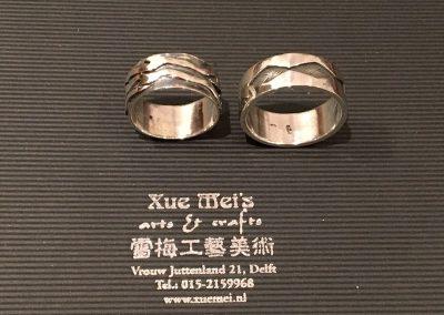Opdracht zilveren trouwringen