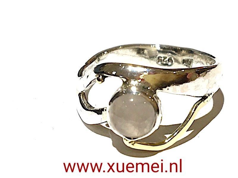 rozenkwarts-ring-Xuemei-Dijkstal-edelsmid-Delft
