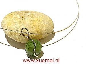 Jade hanger goud - goudsmid Xuemei Dijkstal