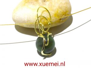 gouden hanger jade - edelsmid Xuemei Dijkstal