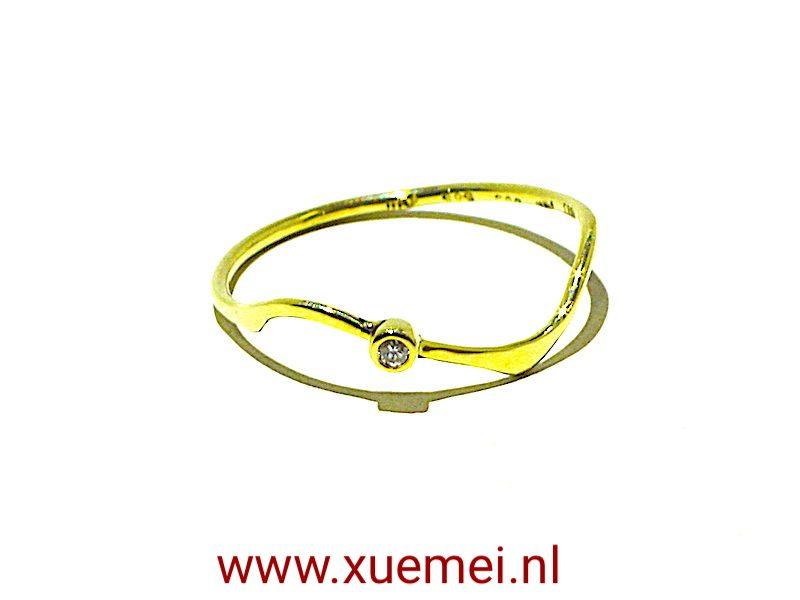 Gouden-diamond-ring-verlovingsring-goudsmid-Xuemei-Dijkstal-Delft