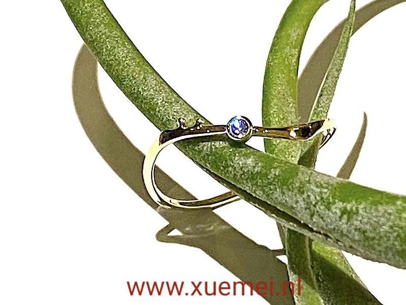 verlovingsring - diamant ring - edelsmid Xuemei Dijkstal