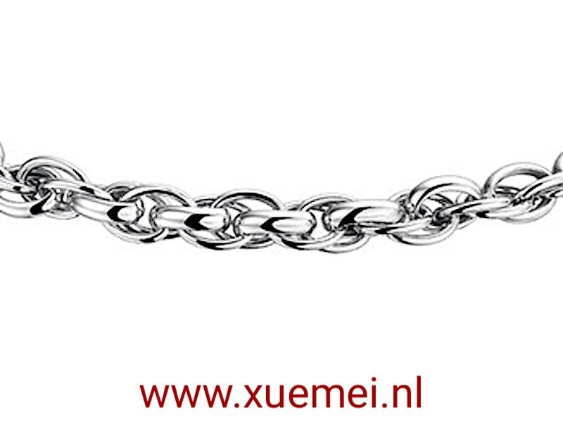 zilveren-collier-fantasie-schakel-