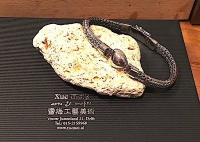 Assieraad / memorie sieraad / opdracht zilveren armband