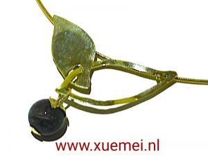 gouden ketting groen toermalijn - juwelier en edelsmid Delft - Xuemei Dijkstal