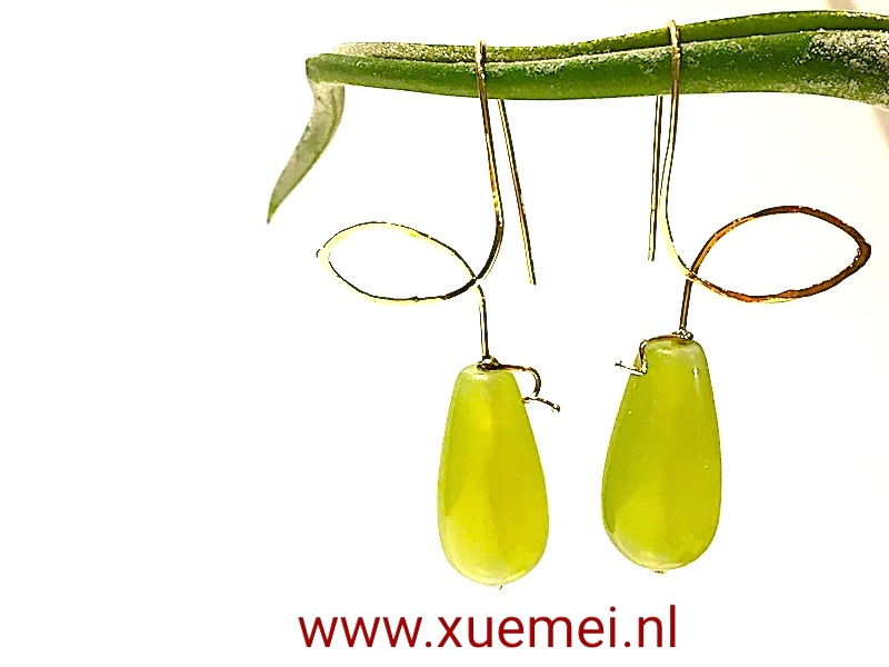 gouden-oorbellen-jade-goudsmid-Xuemei-Dijkstal.