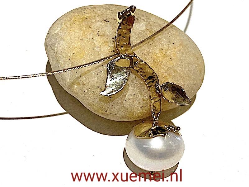 parel hanger goud - goudsmid Xuemei Dijkstal