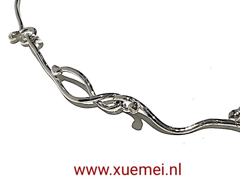 zilveren ketting- handgemaakt - edelsmid Xuemei Dijkstal