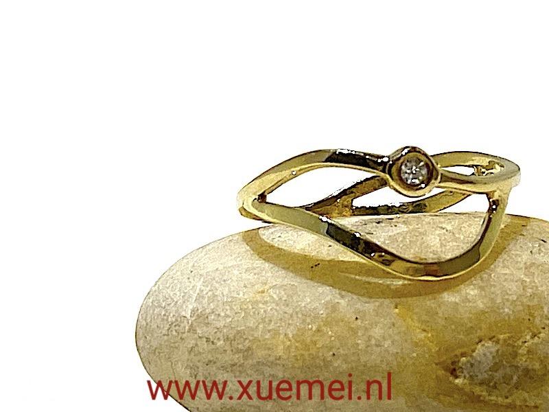 verlovingsring goud - diamant - edelsmid Xuemei Dijkstal