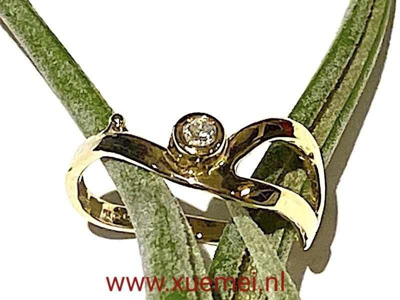 diamant ring - verlovingsring - goudsmid Xuemei Dijkstal